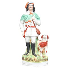 "19th Century Staffordshire Figure of the ""lion hunter"""