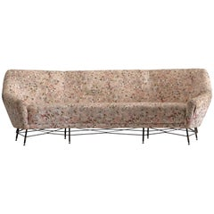 Italian Sofa with Floral Upholstery