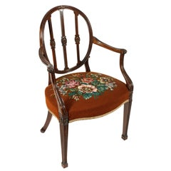 20th Century Hepplewhite Design Georgian Mahogany Elbow Chair