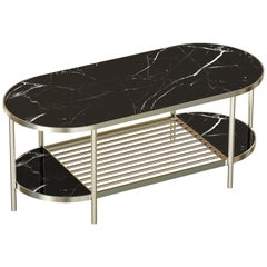 Touché Contemporary Coffee Table Handmade & Customizable in Marble and Brass