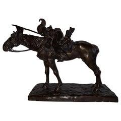 19th Century Italy Horse Bronze, Regimento Novara Cavalleria