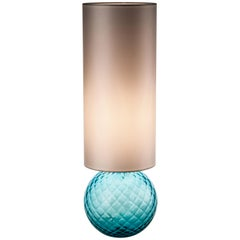 Venini Balloton Table Light in Aquamarine with Shade