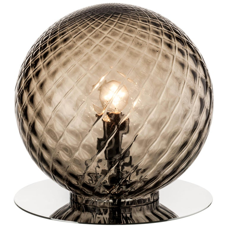 Venini Balloton Globe Table Light in Gray, new, Venini