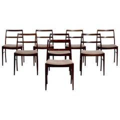 Set of 8 Chairs in Rosewood by Arne Vodder, Model 430