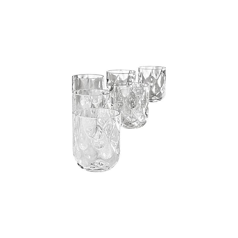 Venini Bicchieri Carnevale Glass Set in Ice