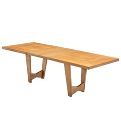 Guillerme & Chambron Extendable Dining Table in Solid Oak