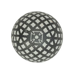 Vintage Mesh Pattern Golf Ball, Rubber Core Maltese Cross, circa 1920