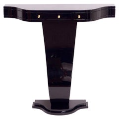 Little Art Deco Style Console Table in Black Piano Lacquer Made in Germany