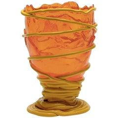 Pompitu II Medium Orange and Yellow Vase by Gaetano Pesce