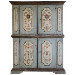 Late 18th Cent Italian Painted Cupboard