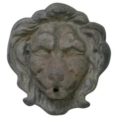 Late 19th Century English Lead Lion Fountain Head