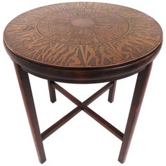 Jules Heumann for Metropolitan Side Table with Italian Acid Etched Bronze Top