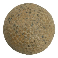Antique S.Vale Hawk' Bramble Golf Ball, Rubber Core, circa 1900