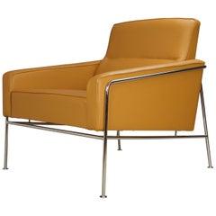 Caramel Leather Arne Jacobsen 3300 Vintage Armchair Lounge Chair, Fritz Hansen