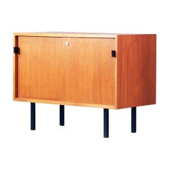 Florence Knoll Teak Sideboard Knoll International 1960s Leather Handles Vintage