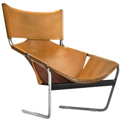 Pierre Paulin for Artifort F-444 Easy Chair in Cognac Leather