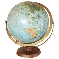 Mid-20th Century Reader's Digest Great World Globe Topographical Desk Globe