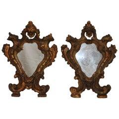 Pair of Small 18th Century, Italian Baroque Mirrors
