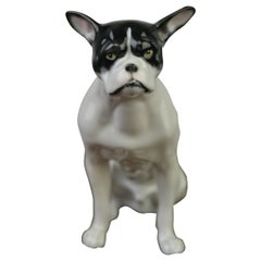Porcelain French Bulldog Figurine by Pfeffer, Germany, Early 20th Century