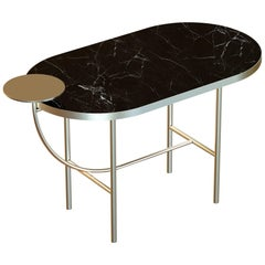 Eva Contemporary Coffee Table Handmade and Customizable in Marble and Brass
