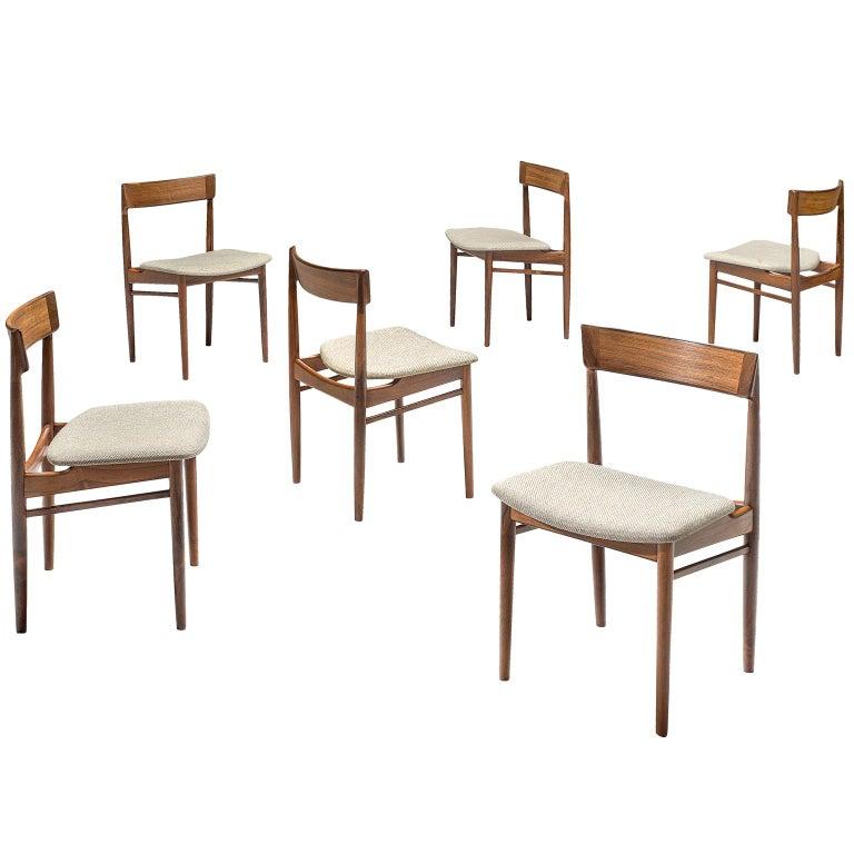 Henry Rosengren Hansen Rosewood Dining Chairs '39' For Sale