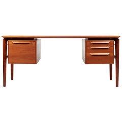 Ib Kofod-Larsen Teak Desk for Ab Seffle Möbelfabrik, Sweden, 1960s
