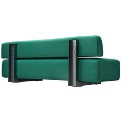 Christophe Gevers Postwar Sofa in Persian Green Fabric