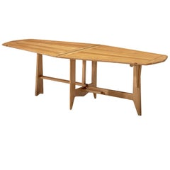 Guillerme et Chambron Folding Dining Table in Solid Oak