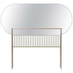 Naive Contemporary Mirror Console Handmade and Customizable in Brass