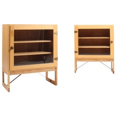 Pair of Mid-Century Vitrines in Oak by Børge Mogensen, Made in Sweden
