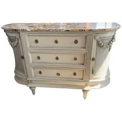 19th Century French Marble-Top Sideboard
