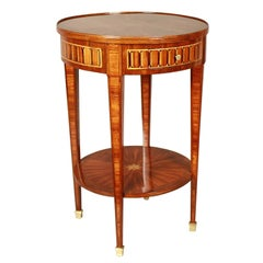 Small Louis XVI Style Marquetry Gueridon