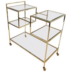 Brass and Glass French Bar Cart