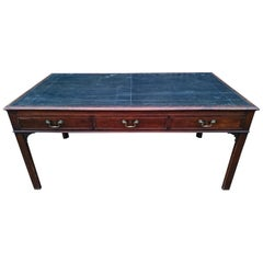 18th Century George III Period Mahogany Antique Library Table