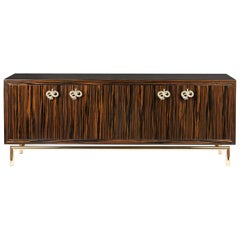 Sideboard Secret in Ebony and Galvanized Metal, Original Sin Collection, Italy