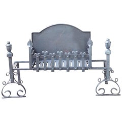 Large English Neo Gothic Fireplace Grate, Fire Grate