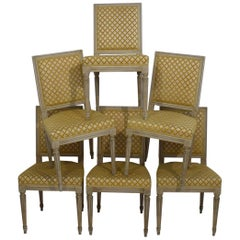 Set of 6 French Early 20th Century Louis XVI Style Dining Chairs