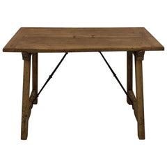 18th Century Spanish Wooden Folding Table/ Writing Desk