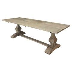 Antique Double Pedestal Banquet Table