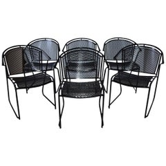Mid-Century Modern Woodard Style Patio Dining Chairs