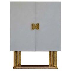 Domiziano White 2-Door Cabinet by Cupioli