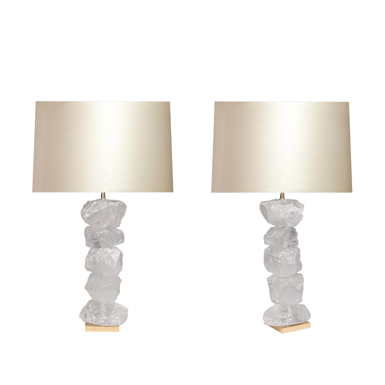 Natural Form Rock Crystal Quartz Lamps