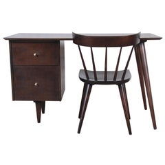 Paul McCobb Mid-Century Modern Planner Group Desk and Chair, Newly Restored