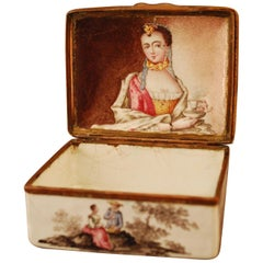 Erotic Snuff Tobacco Box with Highly Explicit Erotic Scenes Behind Secret Lid