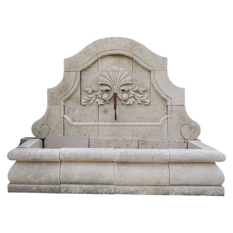 Fan Floral Wall Fountain For Sale