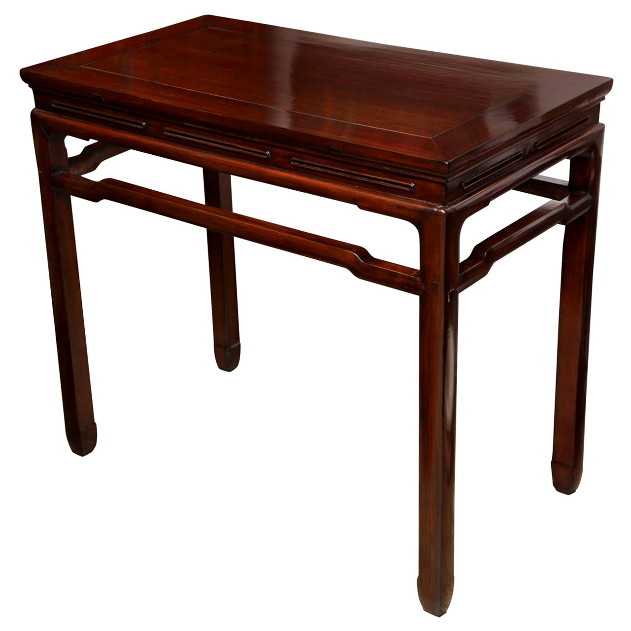 Chinese Elm Wood Wine Table / Console, Mid-20th Century