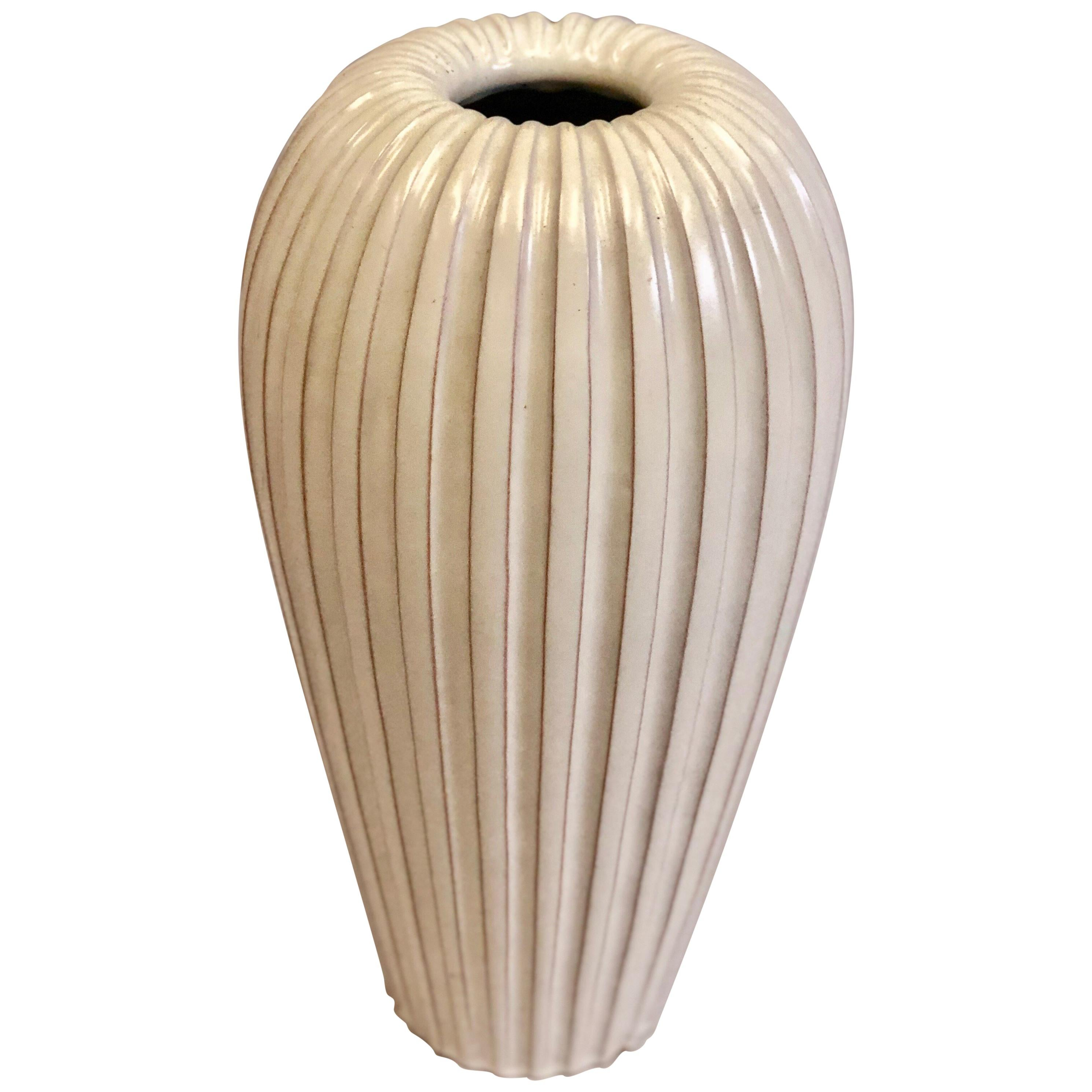 Large Swedish Ceramic Vase / Table Lamp Base by Vicke Lindstrand & Upsala Ekeby