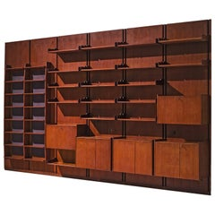 Large Italian Bookcase in Teak