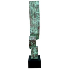 Modern Copper Clad Sculpture by Melvin Schuler