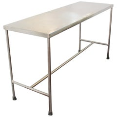 Industrial Modern Style Stainless Steel H-Base Table